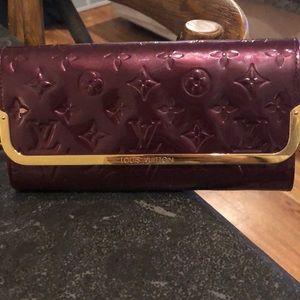 Louis Vuitton vernes leather clutch deep purple